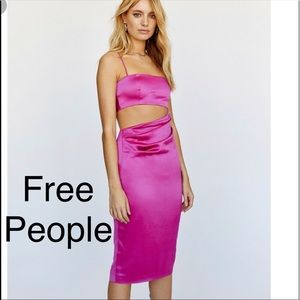 NWT Free People Waist Cut Out Midi Dress